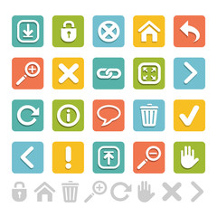Set of website icons great for any use, Vector EPS10.