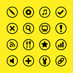 Website buttons and icons great for any use, Vector EPS10.