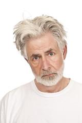 Sad or Discouraged Older Man