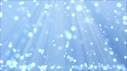 Christmas Background With Particles and Spotlights