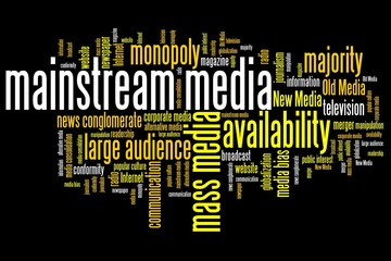 Media monopoly - word cloud