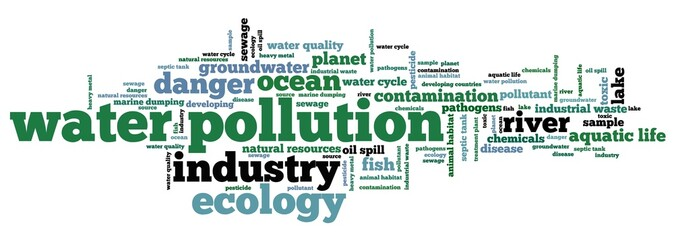 Polluted water - word cloud
