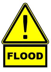 Наводнение (flood). Предупреждающий дорожный знак