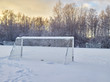 Snowy soccer field - 75382081