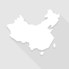 Grey China map icon