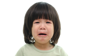 Cute asian baby crying