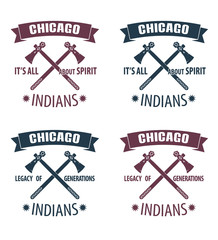 Indians emblems vector illustration, eps10, easy to edit