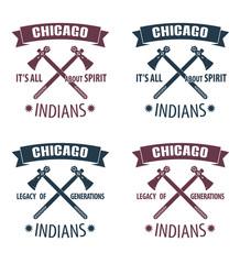 Indians emblems vector illustration, eps10, easy to edit