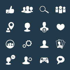 social icons with people vector illustration, eps10