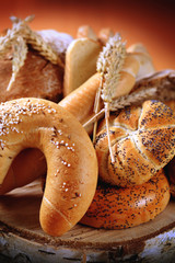 Variety of fresh bread and rolls