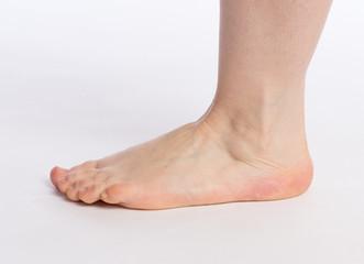 linker Fuß einer Frau