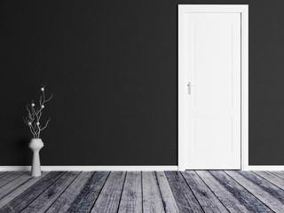 vase near the door