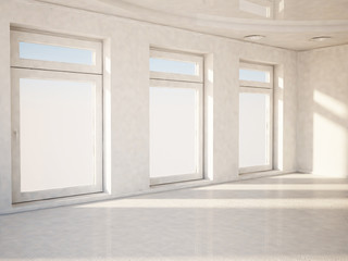 empty room in white color
