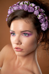 girl with a wreath studio