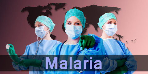 malaria medical doctor female
