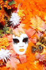 Autumn mask at the Carnival of Venice