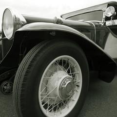 Vintage car close up