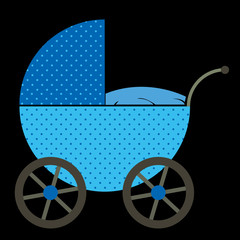 Blue Baby Buggy bright