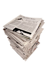 Stack of newspapers With Business Edition On Top