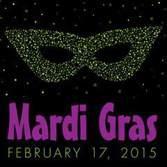 Mardi Gras Bubble mask