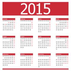 Calendario 2015 Red