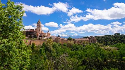 Catedral vista desde el Alcazar de Segovia