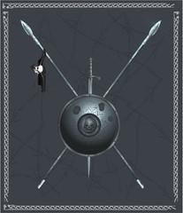 Undead shield vector