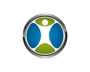 human circle logo