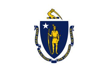 Massachusetts Flag vector
