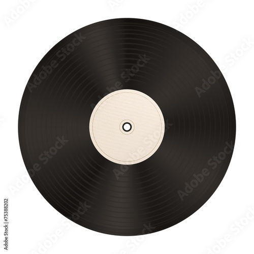 Leinwanddruck Bild Schallplatte