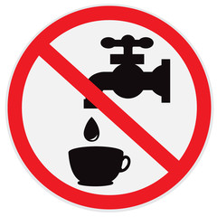 Do, not, drink, water, sign