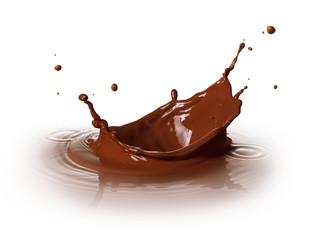 chocolate splashing