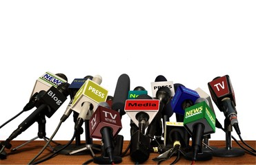 Press Media Conference Microphones