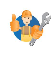 Handyman, Builder, Craftsman, show Thumb Up