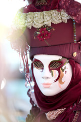 Red mask at the Carnival of Venice