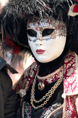 Masked woman at the Carnival of Venice