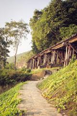 Railway bridge kanchanaburi. Thailand.