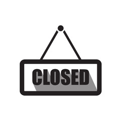 Closed sign board icon