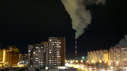 Night City Power Factory's Smokestack in Tyumen, Russia