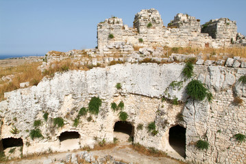Castle Euralio over Siracusa on Sicily