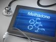 methadone word displayed on tablet - 75396488