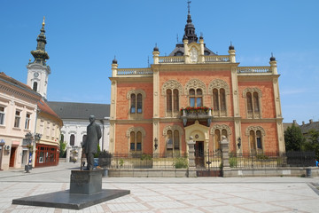 Architecture And Statue In Novi Sad, Serbia