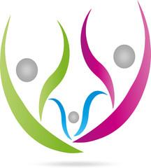 Logo, Menschen, Drei Personen, Familie