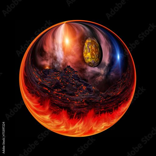 Fantastic colorful ball - 75397224