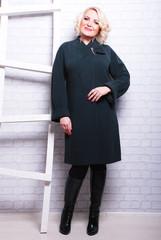 полнота, мода, пальто