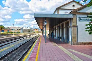 Estación de ferrocarril de Plasencia, Cáceres, trenes