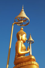 gold image buddha in Thailand