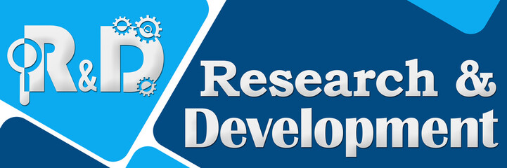 R And D - Research And Development Two Blue Squares