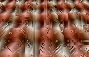 printed circuit grunge background