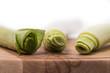 Fresh green leek
